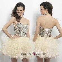 Schönen Sexy Mode Schatz Backless Lace-up Kristall Tulle A-Line Vestidos De Baile Graduation Dresses 2015