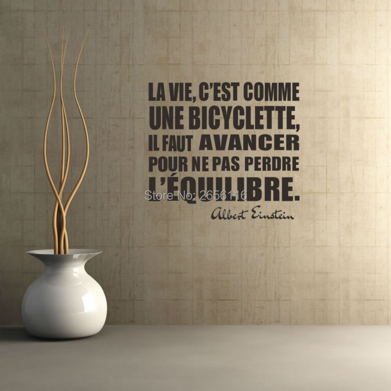 Inspirational French Quotes Wall Stickers La Vie Cest