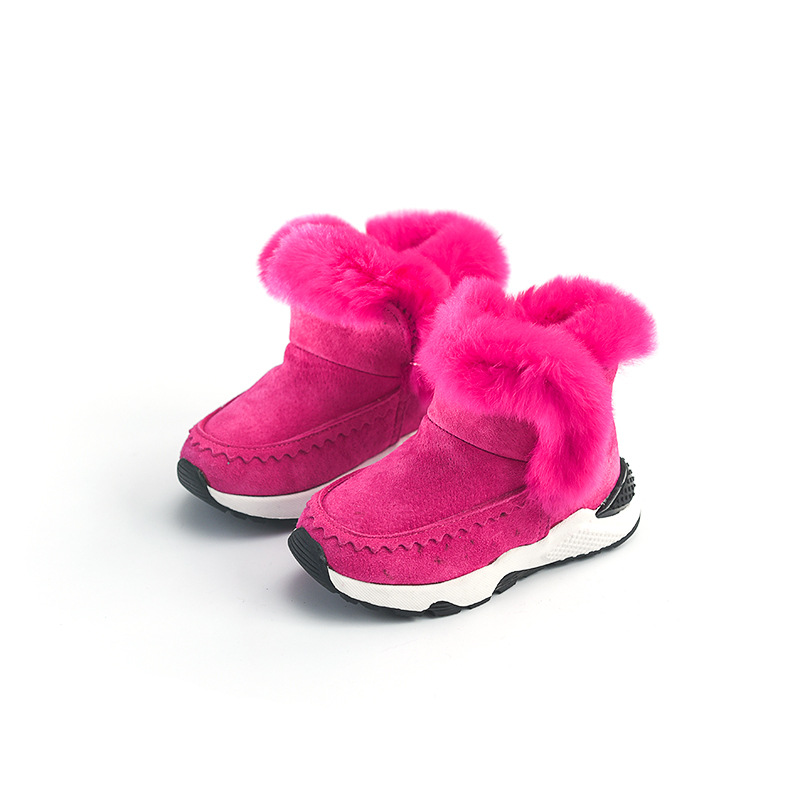 Kids Freezing Cold Winter Snow Boots Casual Boys Martin Boots Girls Warm High Top Shoes Fashion Real Leather Children Snow Boots babyfeet 2017 winter fashion warm plush high top genuine cow leather children ankle girls snow boots kids boys shoes sneakers