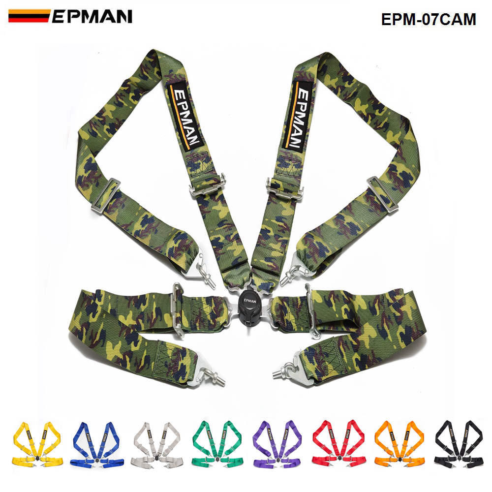Universal 4-Point 3Nylon Strap Harness Safety Camlock Racing Seat Belt EPM-07CAM
