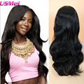 "26"" Body Wavy Natural Black Half Synthetic Wigs Crochet Braid Hairstyles Mannequin Head Hairstyles High Quality Free Shipping"