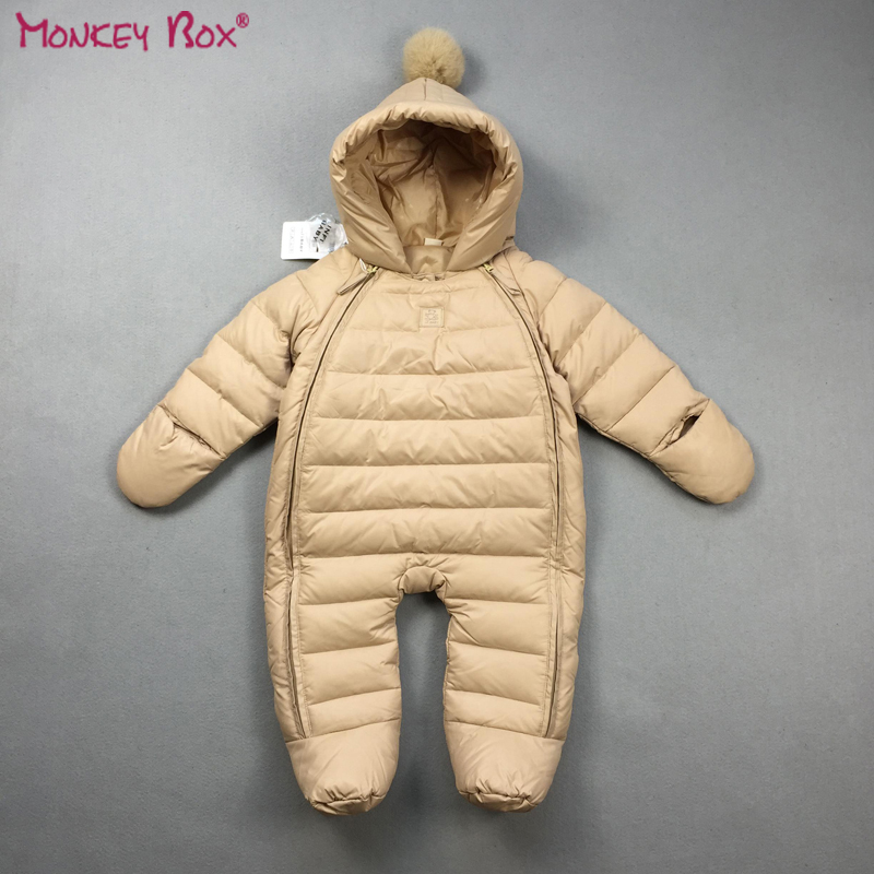 ФОТО Baby Winter Snowsuit Newborn Baby Boy Outerwear Baby Girl Winter Down Jacket Infant Snow Overalls Toddler Snow Wear Baby Clothes