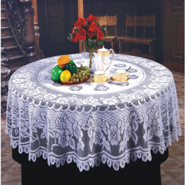 Ordinaire Free Shipping Floral Lace Round Tablecloths With Tea Flower Beauty Lace  Table Cloths For Overlay Diameter
