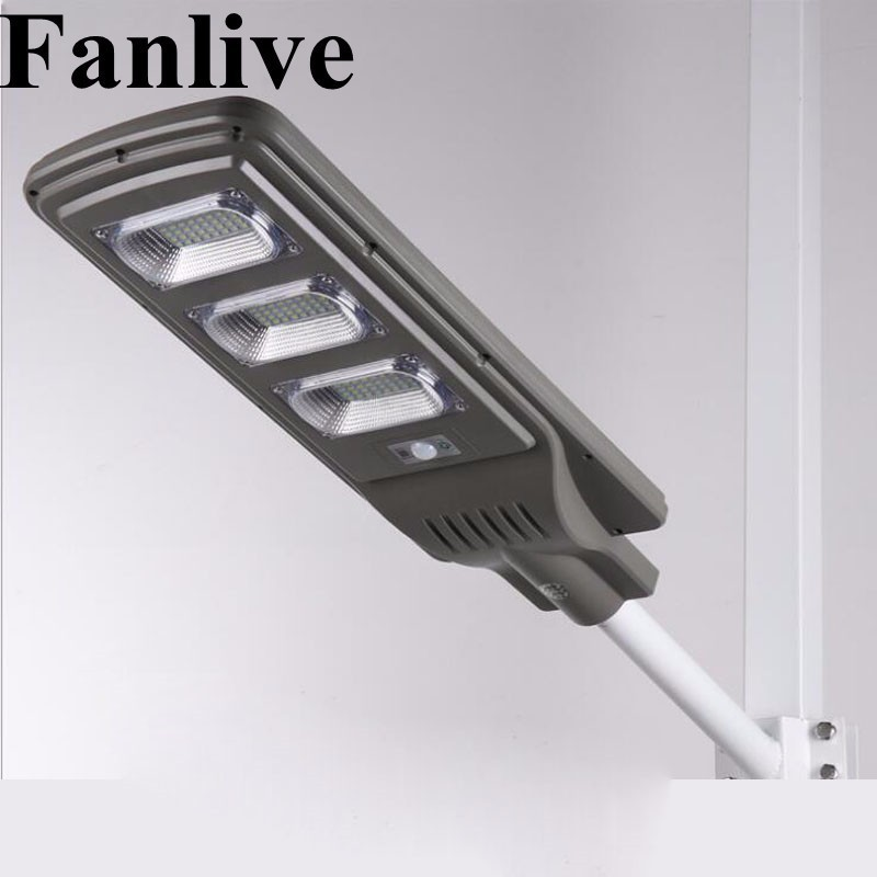 Fanlive 10PCS 30W 50W 80W Integrated LED Solar Lamp Lights For Garden Powerful Outdoor Waterproof Street Light Lampe Solaire