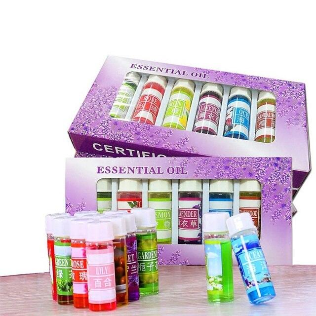 6 unids/set aceite esencial para difusor aceite de aromaterapia humidificador 6 tipo 5 ML fragancia aceite de aromaterapia aceite de Spa Natural maquillaje