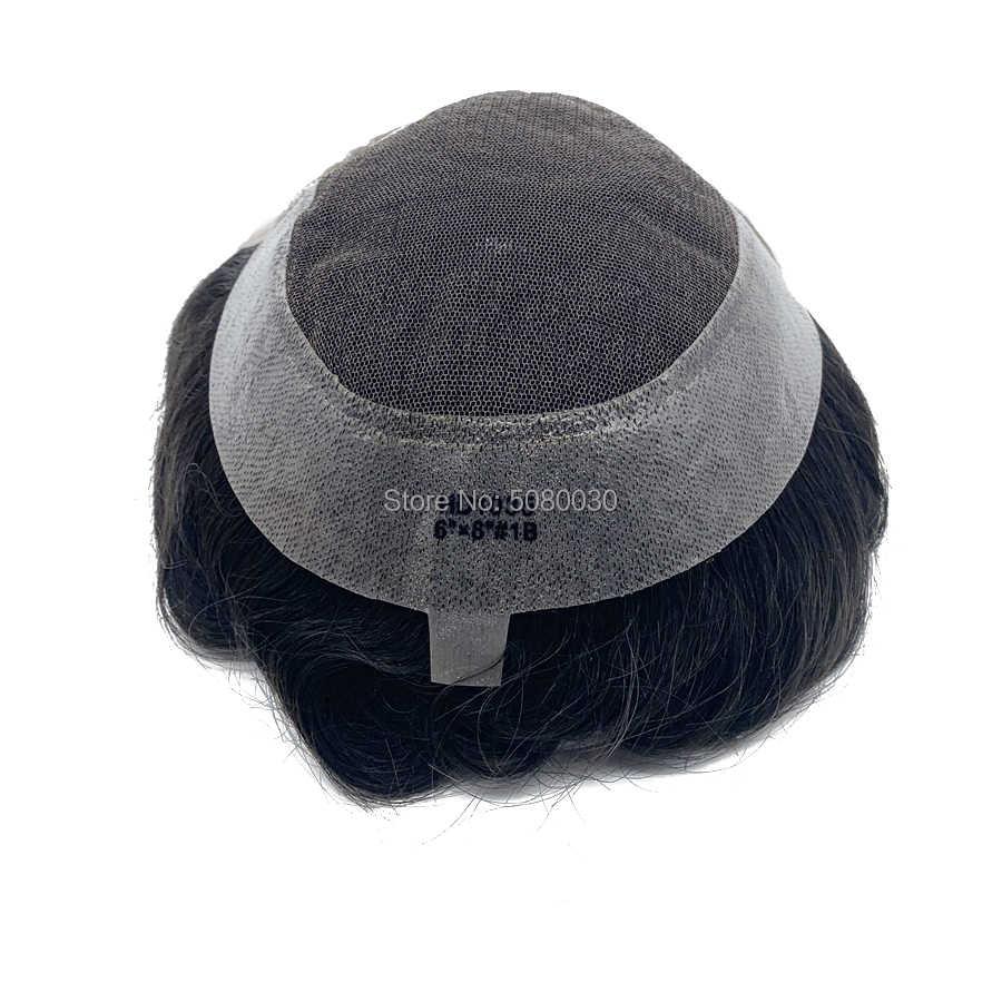 HD Базовый Стиль Топ и передний парик швейцврское кружево волосы парики из натуральных волос для мужчин Бесплатная доставка DHL FedEx