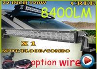 Free DHL UPS Fedex Ship 22 120W 8400LM 10 30V 6500K LED Working Bar Curved Option