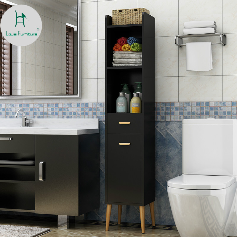Bathroom Storage Locker Toilet Narrow