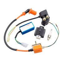 GOOFIT Performance Ignition Coil Relay CDI Spark Plug and Voltage Regulator Rectifier for 110cc Dirt Bike ATV H053 701