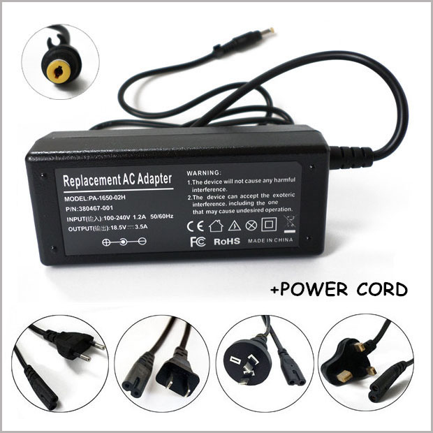 18.5V 3.5A 65W NEW AC Adapter Charger For Laptop HP TouchSmart TX2z tx2-1020us tx2-1025d ...