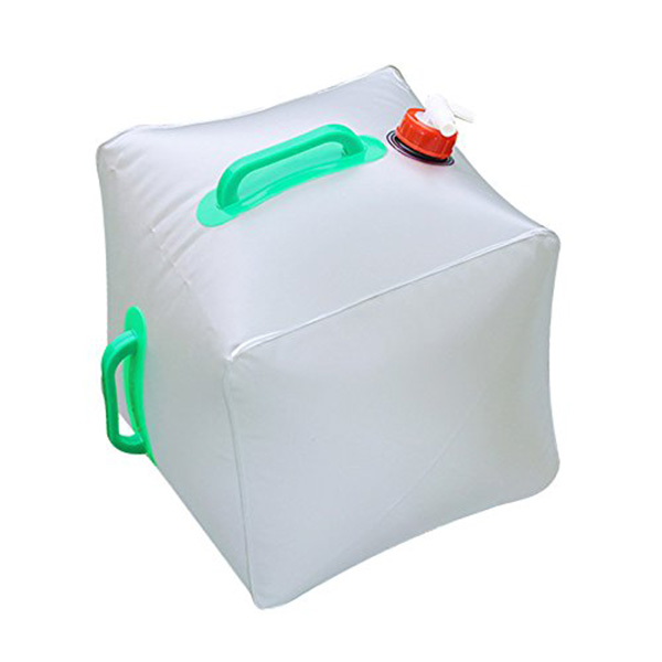 09b8533caa21 US $7.66 46% OFF|Collapsible Water Container Topist 5 Gallon/20L Portable  Water Carrier Bag / Emergency Cube Water Bag Outdoor Water Storage-in Water  ...