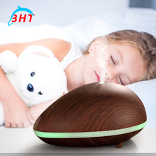 150ml Electric Aroma Diffuser Ultrasonic Humidifier Essential Oil Diffuser Lamp Aromatherapy Air Purifier Woodgrain Mist Maker