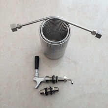 Beer Brewing,cooling coil  , food grade 304 stainless steel material with long shank beer tap/faucet and 80mm