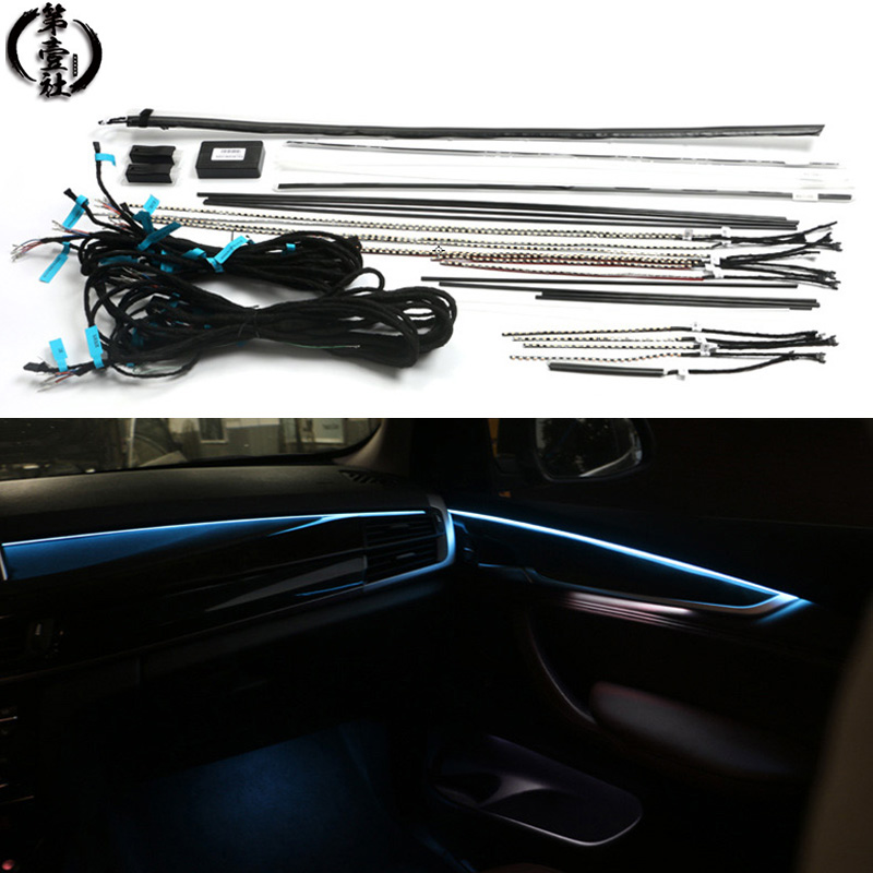 Car Interior Car Decorative Led Ambient Door Light Stripes Atmosphere Light With RGB Colors 9 Styles For BMW X5 X6 F15 F16