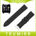 24mm de caucho de silicona correa + herramientas para sony smartwatch 2 sw2 reemplazo correa de reloj pulsera pulsera de la correa negro