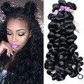 4 pacotes de onda solta brasileira 7a cabelo virgem brasileiro do cabelo weave bundles curly weave do cabelo humano honey queen produtos para o cabelo
