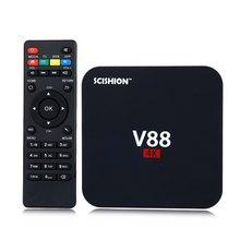 V88 4 K Android 5.1 Smart TV Box Rockchip 3229 1G/8G 4 USB 4 K 2 K WiFi Completo Cargado Quad Core 1.5 GHZ KODI Medios jugador