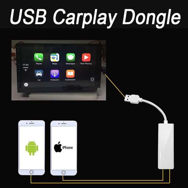 New Android car radios USB Apple Carplay Dongle for