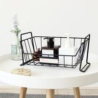 1 PCS Nordic open cascading storage basket kitchen dish and debris storage basket desktop stackable storage box AP10221804