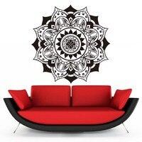 Decalques Da Parede do vinil Mandalas de Ioga Indiano Padrão de Flores Adesivos de Parede Para Sala Art Mural Home Decor Autoadesivo Wallpape