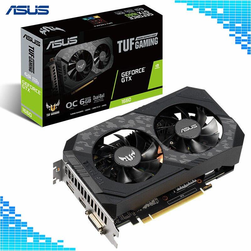 Asus TUF GTX 1660 O6G GAMING основной уровня настольных Графика карты 6G 8002 МГц 192bit GDDR5 NVIDIA GeForce GTX 1660 Графика