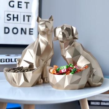 Creative Dog and Cat Storage Geometric Sculpture
