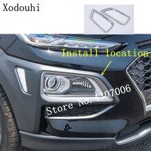 For Hyundai Kona Encino Kauai 2017 2018 2019 Car front fog light font b lamp b