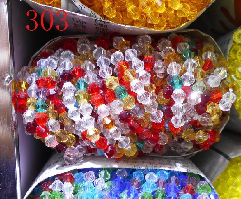 Não-hyaline branco ab cor 100 pces 4mm bicone áustria contas de cristal charme grânulos de vidro solto espaçador grânulo jóias fazendo