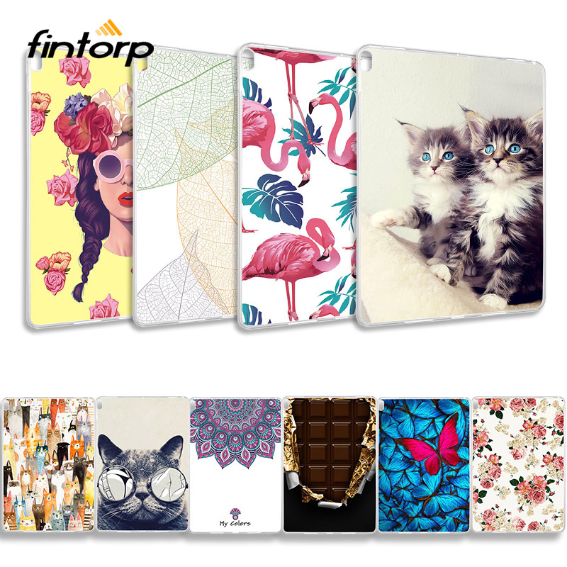 Case For <font><b>Lenovo</b></font> Tab P10 Cases Animal Flower Painted Soft TPU Silicone Back Covers for <font><b>Lenovo</b></font> Tab P10 TB-<font><b>X705F</b></font> TB-X705L 10.1