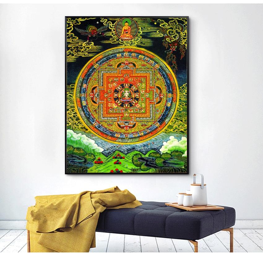 Buddhist Thangka Painting Canvas Printings HD Print On