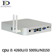 Kingdel Business Mini Computer Barebone i5 4260U i3 5005U N3150 Windows 10 Mini PC 12V VGA HDMI with Fan Mini Desktop Computer