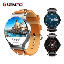 LEMFO LEF1 Android 5.1 IŞLETIM SISTEMI Akıllı Telefon MTK6580 Kalp Hızı Monitörü 3G WIFI Android Reloj Inteligente Akıllı Kol Saati Relogio