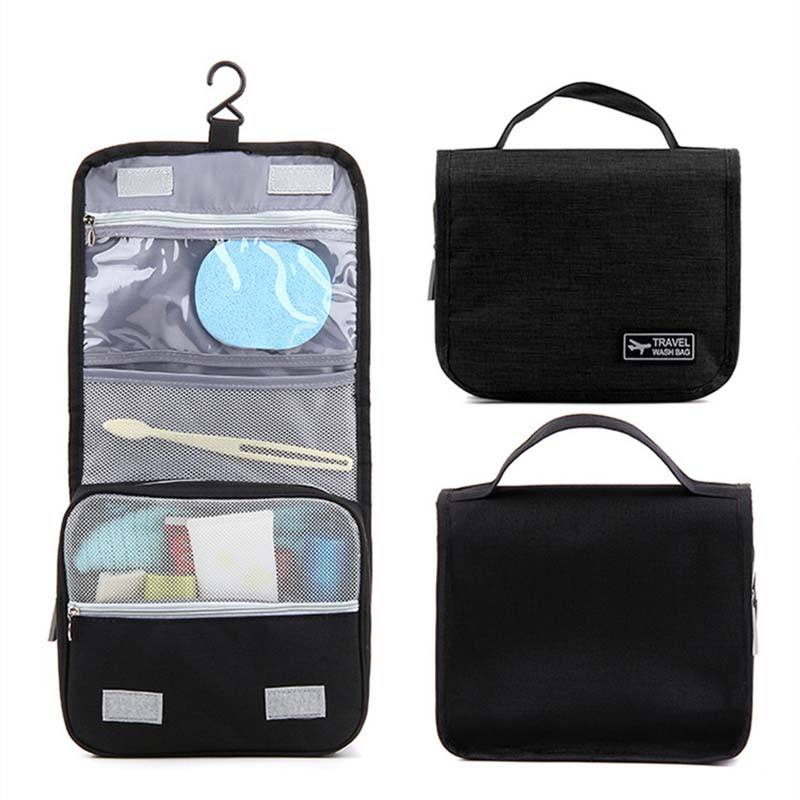Portable Travel Cosmetic Bag Neceser Women Men Large Hanging Wash Bag Neutral Make Up Bag Organizer Bathroom Wash Bag 35 in Cosmetic Bags Cases from Luggage Bags