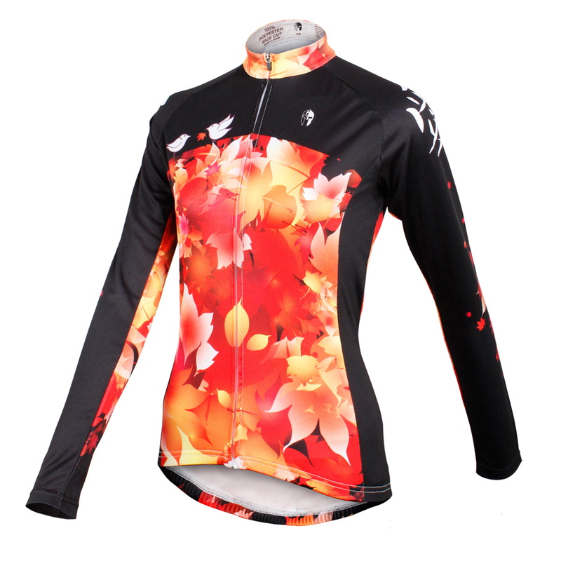 ILPALADINO Cycling Jerseys For Women Long Sleeve MTB Road Mountain Bike Jersey Riding Jacket Quick Dry Breathable Sportwear
