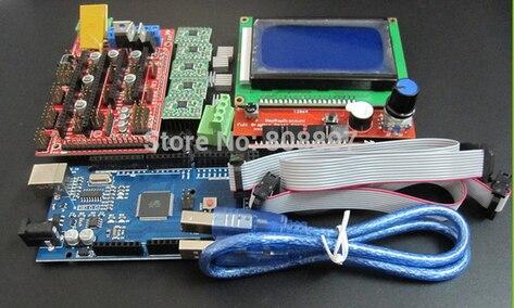 1set Mega 2560 R3 CH340 1pcs RAMPS 1 4 Controller 5pcs A4988 Stepper Driver Module 1pcs