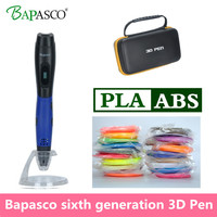 2018 Newest   3D     Pen   Bapasco Brand Kids education tools Portable   3D   Printing   Pen   USB Charge Mutil-function Box   3D   Printing   Pen
