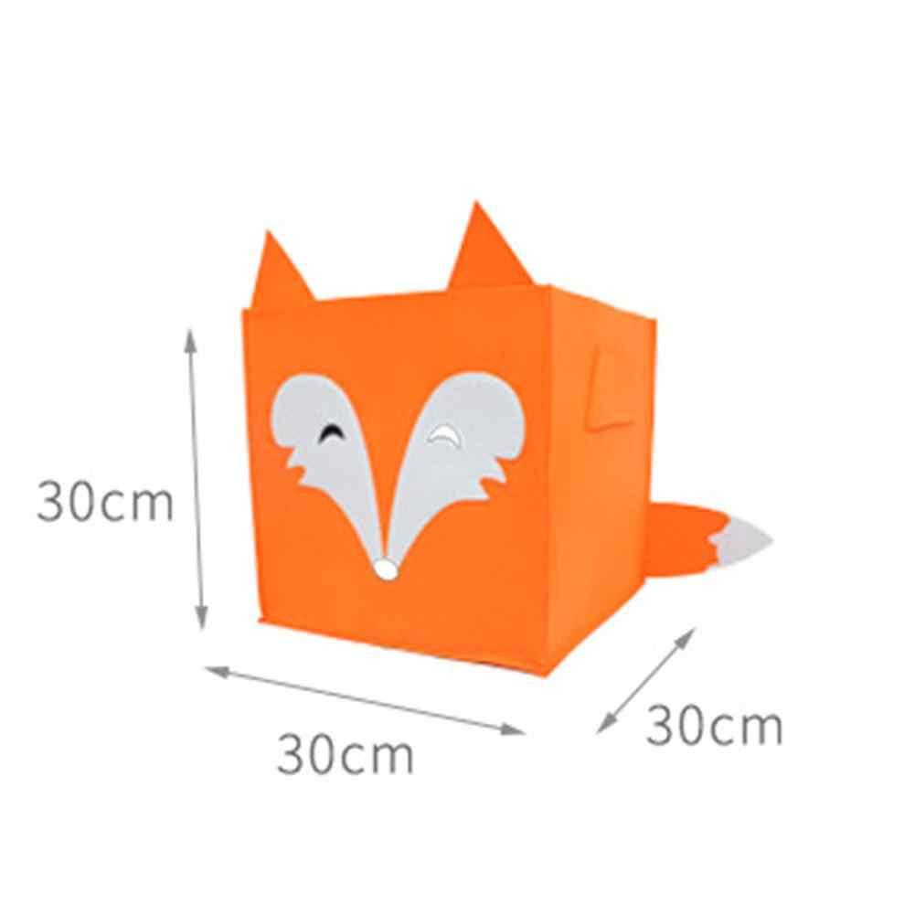 Войлочная ткань мультяшный ящик для хранения практичные милые коробки для хранения закусок Органайзер складывающийся