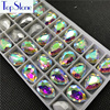 Crystal Clear AB TEARDROP Glass Crystal POINTED BACK Rhinestones 5x8,6x10,8x13,10x14,13x18,18x25,20x30,30x40mm Dress Drop stone