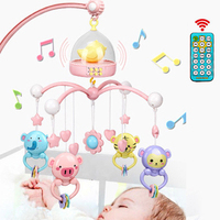 Newborn Funny Bed Bell ABS Mobile Rattles Educational Toy Set Musical Playing Baby Ring Hanging Crib Non toxic With Controller