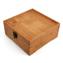 New Home Furnishing  Bamboo Storage Box Natural Wooden Packing box Craft Jewelry Case Wedding Gift Free shipping ZSN-10