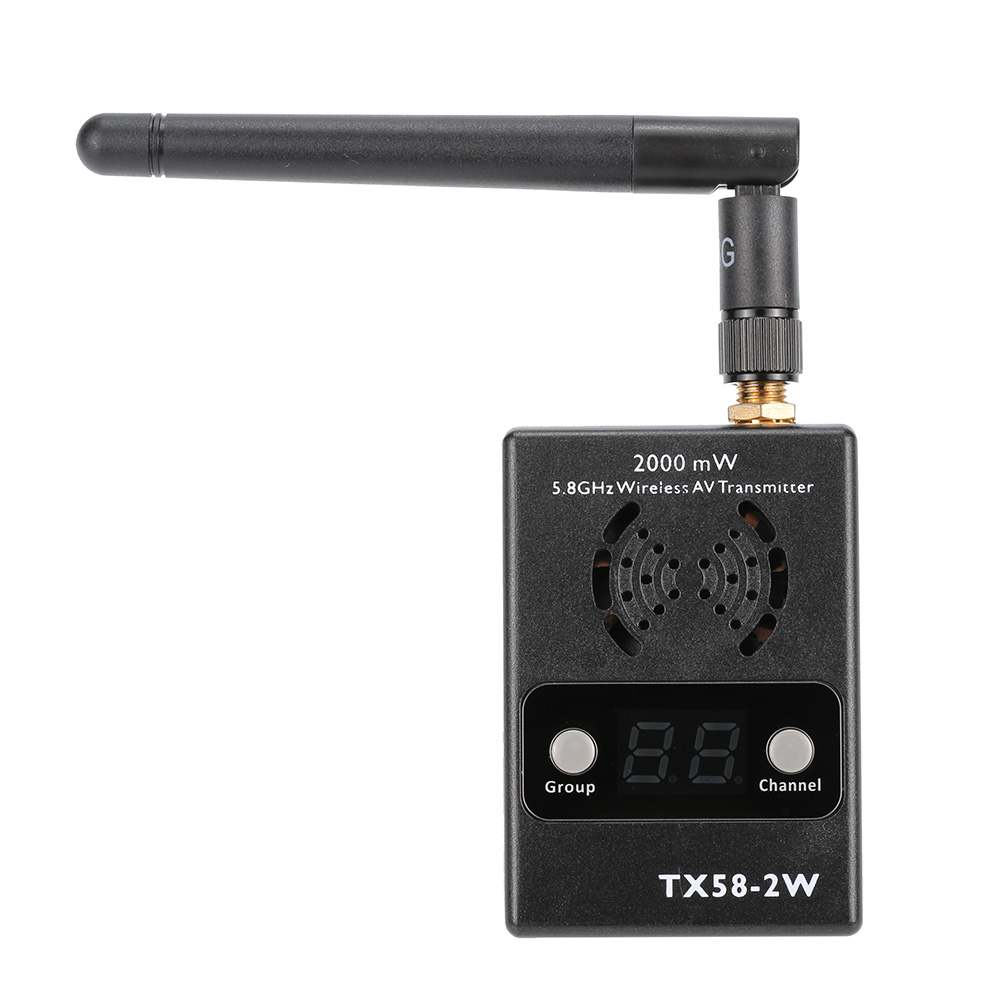 High Quality TX58-2W 32CH 5.8GHZ Wireless AV Transmitter and RC58 40 Channels 5.8GHZ Wireless AV Receiver for FPV RC Quadcopter high quality 1 2g fpv wireless transmitter and receiver 1 2ghz long range drone av sender with 8 channels