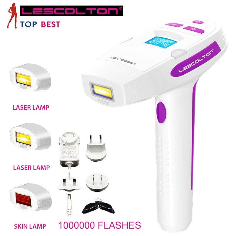 Lescolton 4 em 1 depilador fêmea indolor permanente da remoção do cabelo do laser 100-240 v do ipl para o removedor bonde do cabelo das mulheres do corpo inteiro