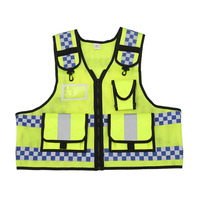 Men's Motorcycle Reflective Safety Vest Cycling Safety Work Cloth Reflective Vests 360 Degrees High Visible Tool Vest