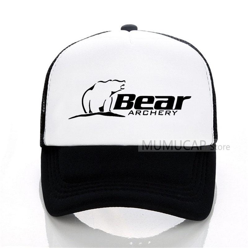 9d6331c7d0a Summer Sports Bear Archery Fashion Baseball Cap Fashion Men Women mesh  trucker cap Letter Snapback Hats