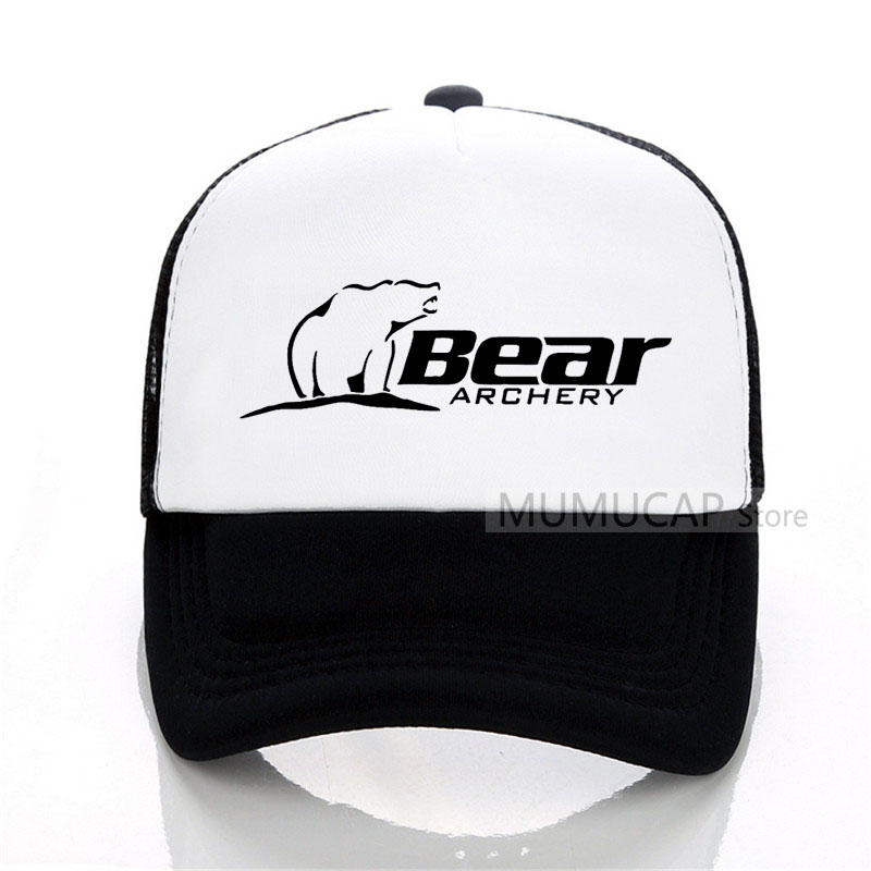 Summer Sports Bear Archery Fashion Baseball Cap Fashion Men Women Mesh Trucker Cap Letter Snapback Hats Bones