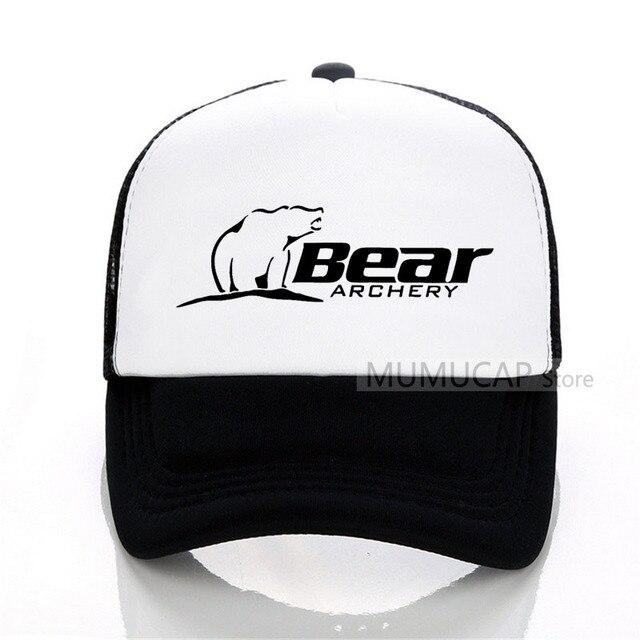 ce169d348e0428 Summer Sports Bear Archery Fashion Baseball Cap Fashion Men Women mesh  trucker cap Letter Snapback Hats