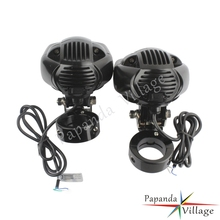 Motorcycle Fog Lights Auxiliary Lamps Driving Headlights USB Charge Projector For Harley Chopper Bobber w/ 1 1/4 Engine Guard