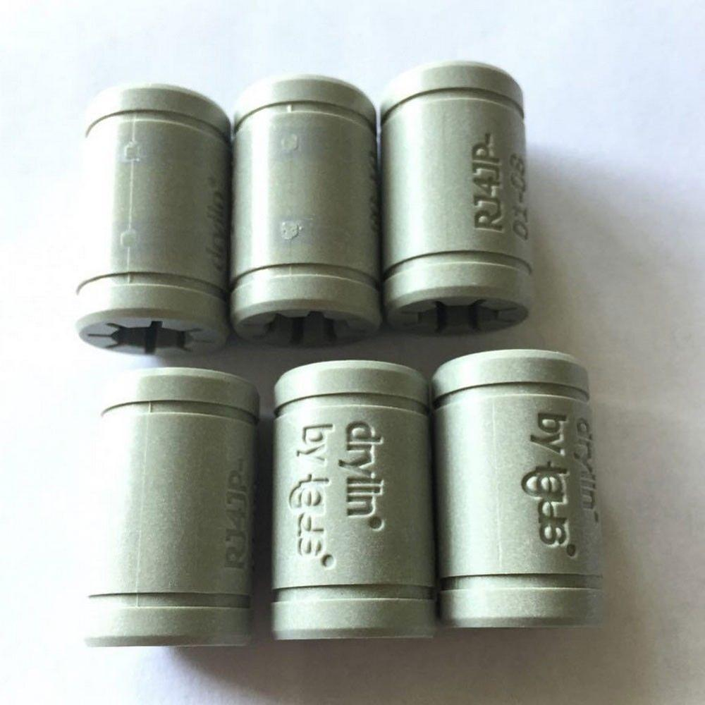 Funssor polímero sólido lm8uu rolamento 8mm eixo drylin RJ4JP-01-08 para anet reprap prusa i3 impressora 3d