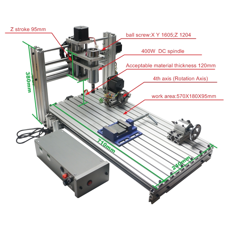 цена на NEW 6020 Metal DIY CNC Router Milling Machine USB CNC with 400w Spindle Wood Carving Machine
