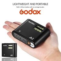 Tüketici Elektroniği'ten Flaşlar'de Godox A1 Smartphone Flaş Sistemi 2.4G Kablosuz Flaş Tetik Sabit led ışık ile APP Kontrolü Pil için iPhone 6 s 7 artı